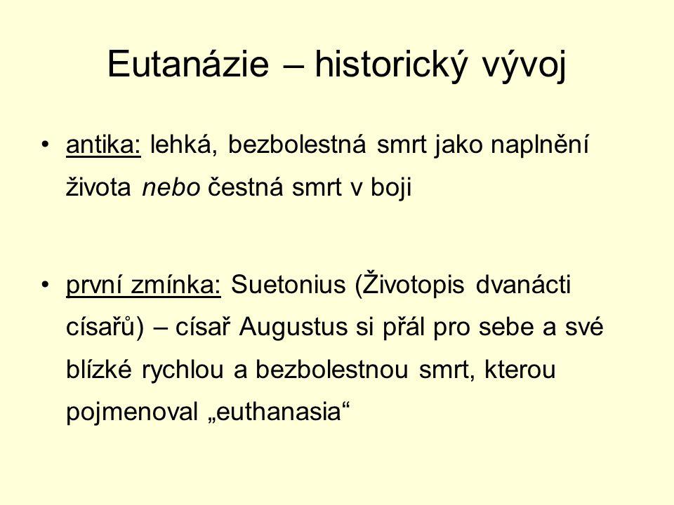 Eutanázie – historický vývoj