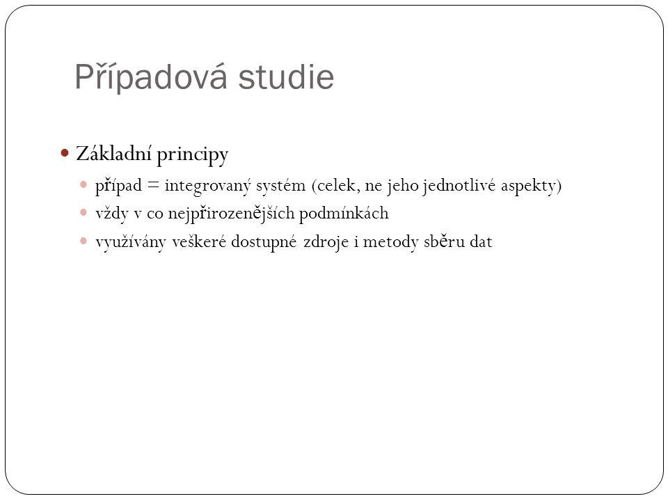 Případová studie Základní principy
