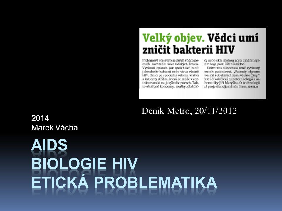 AIDS biologie HIV etická problematika