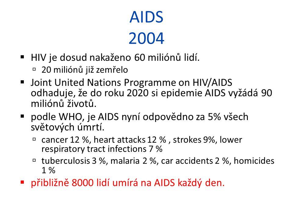 AIDS 2004 HIV je dosud nakaženo 60 miliónů lidí.