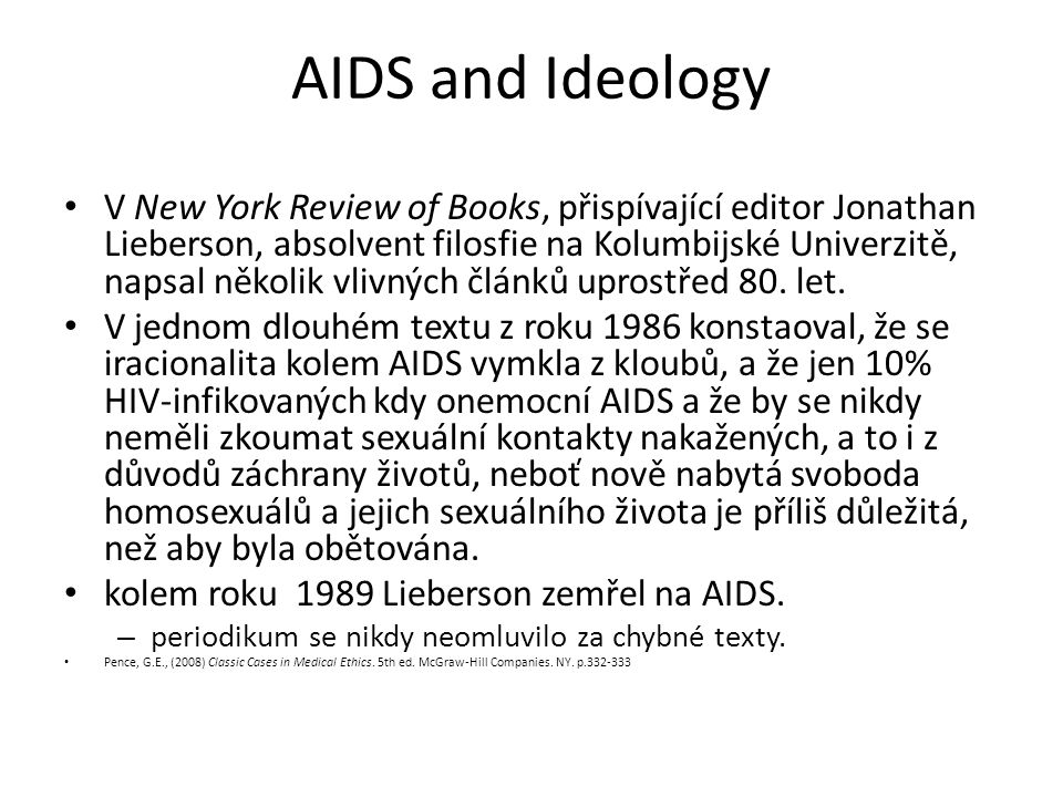 AIDS and Ideology