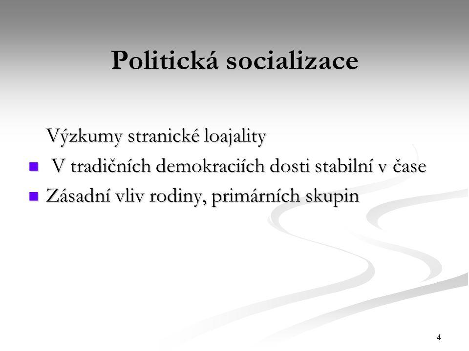 Politická socializace
