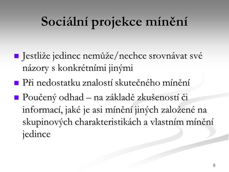 Sociální projekce mínění