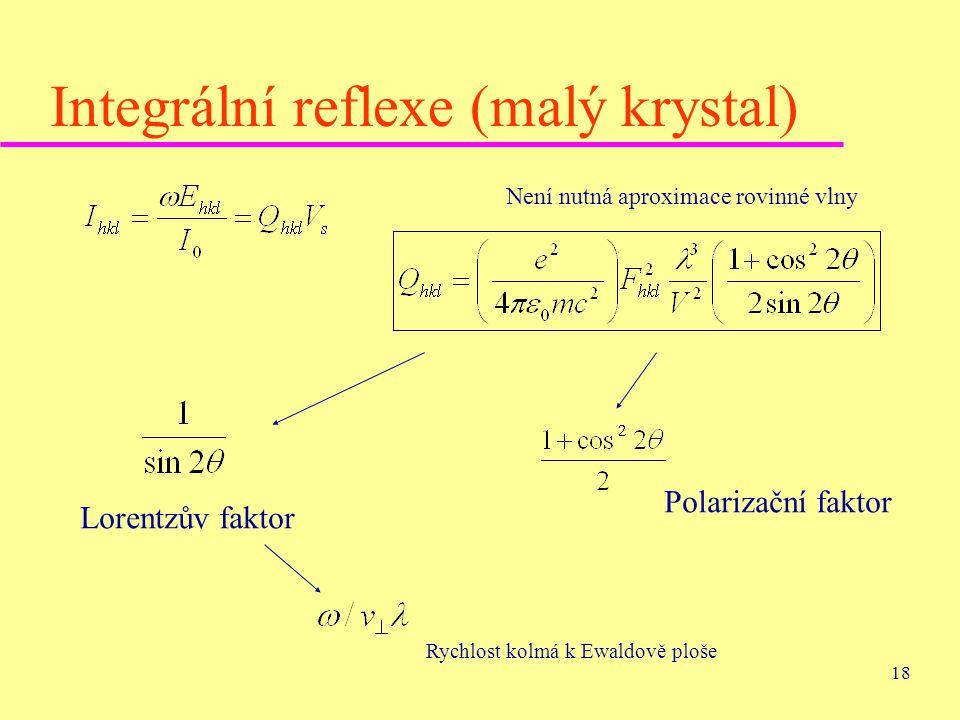 Integrální reflexe (malý krystal)