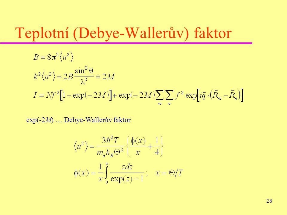 Teplotní (Debye-Wallerův) faktor