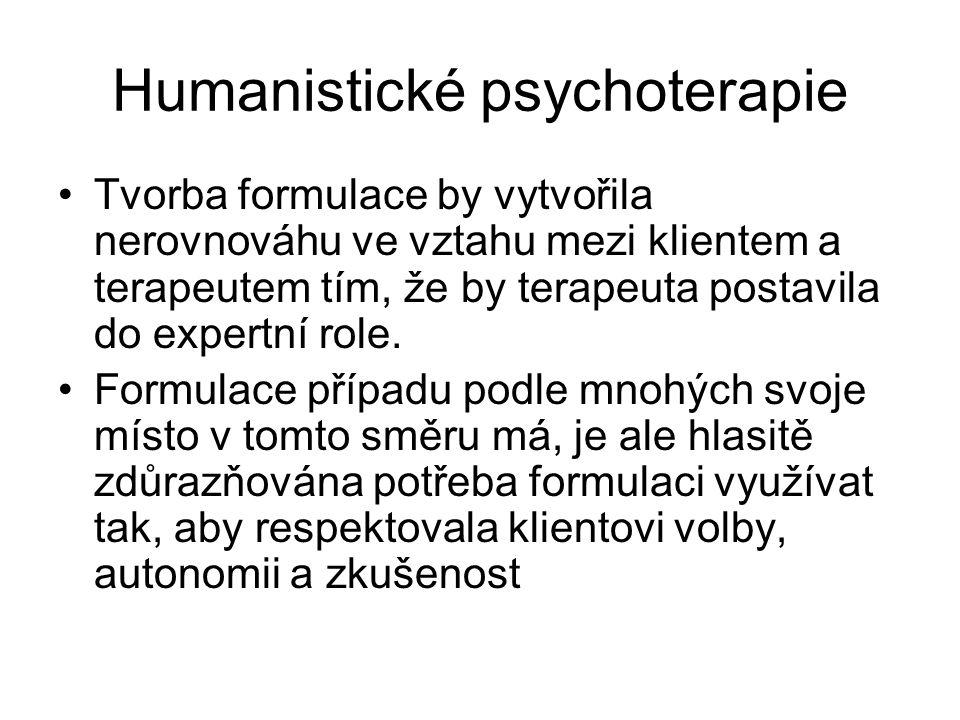 Humanistické psychoterapie