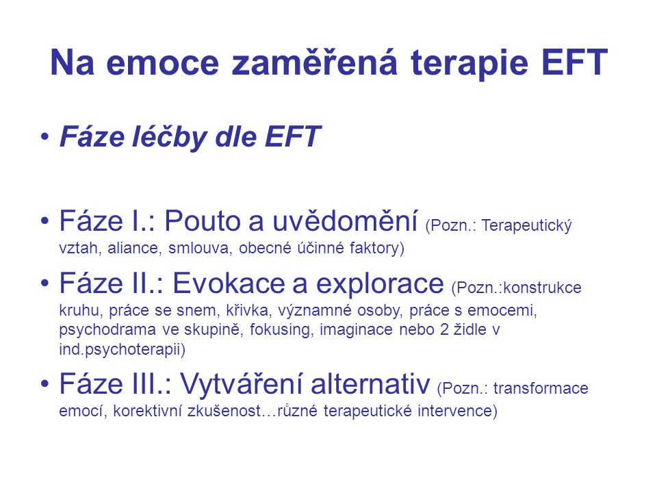 Na emoce zaměřená terapie EFT