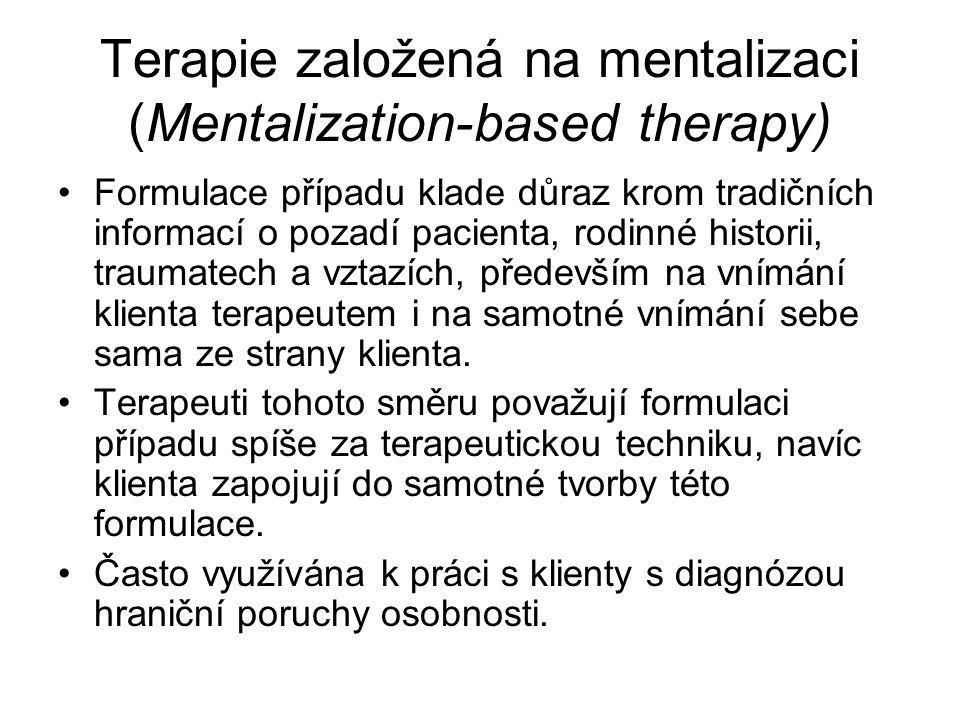 Terapie založená na mentalizaci (Mentalization-based therapy)