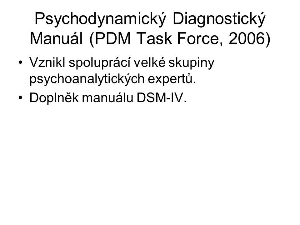 Psychodynamický Diagnostický Manuál (PDM Task Force, 2006)