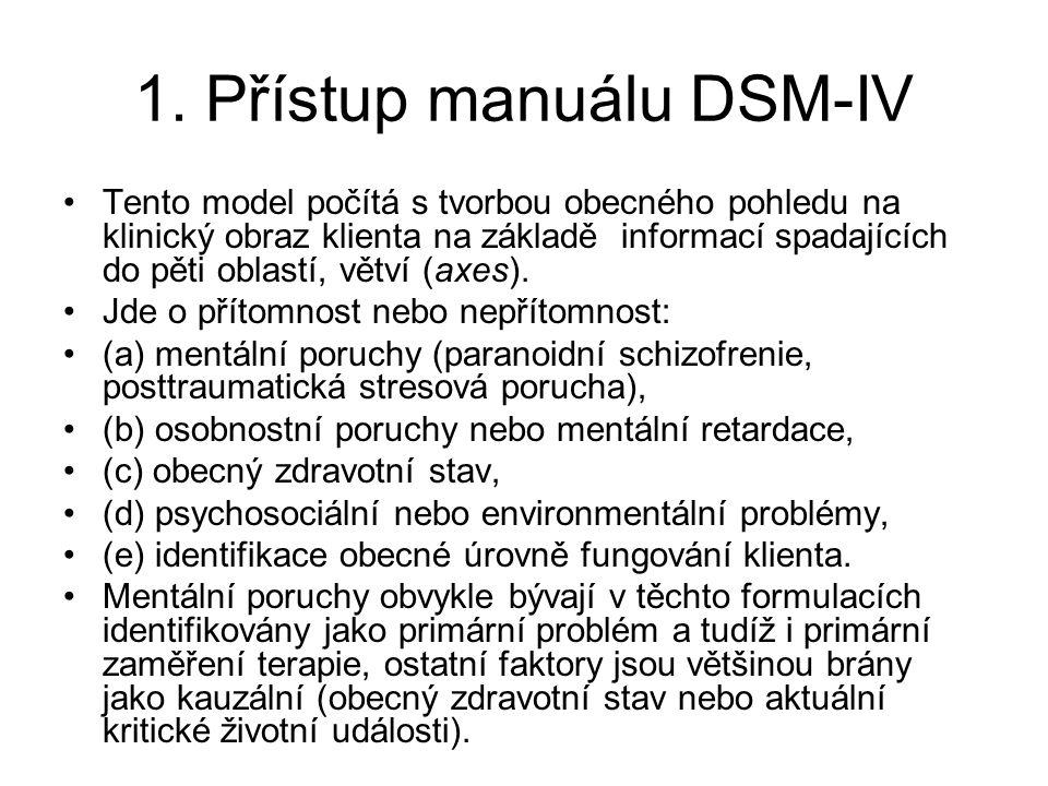 1. Přístup manuálu DSM-IV