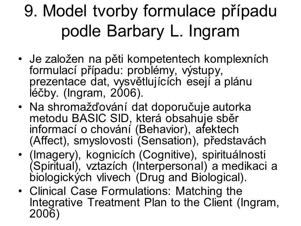 9. Model tvorby formulace případu podle Barbary L. Ingram