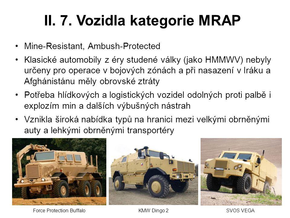 II. 7. Vozidla kategorie MRAP
