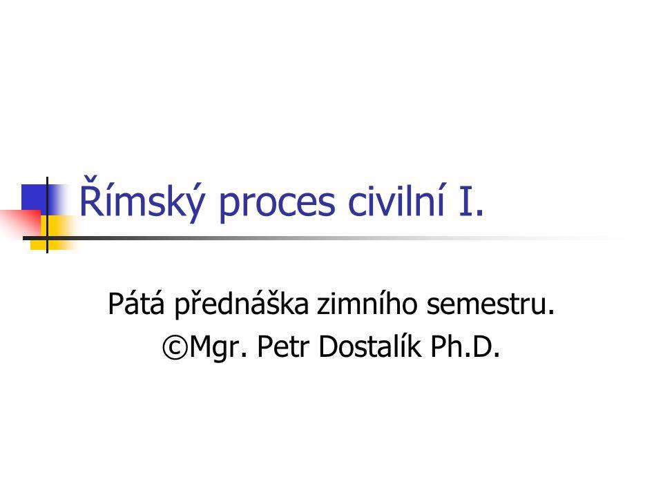 Římský proces civilní I.