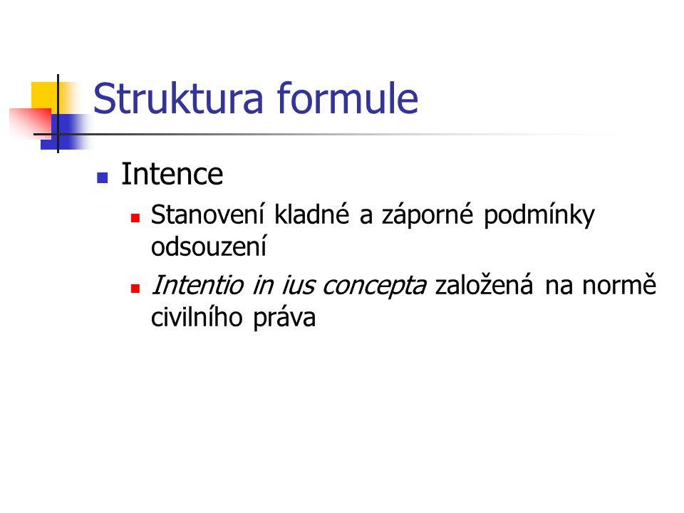 Struktura formule Intence