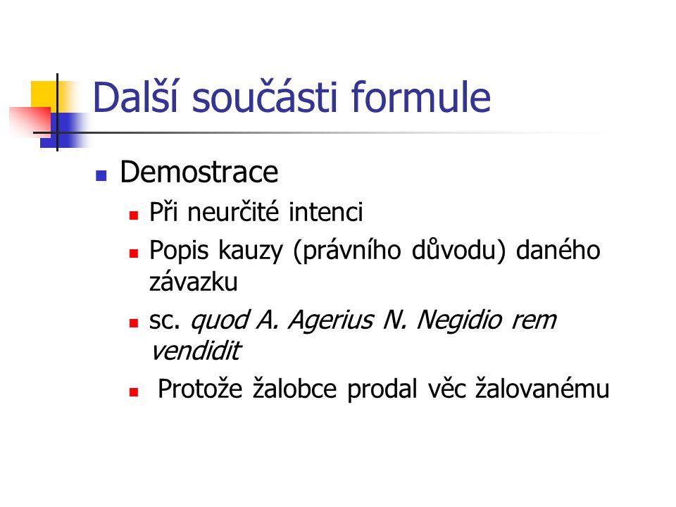Další součásti formule