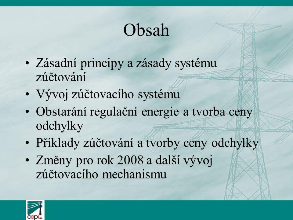 Obsah Zásadní principy a zásady systému zúčtování