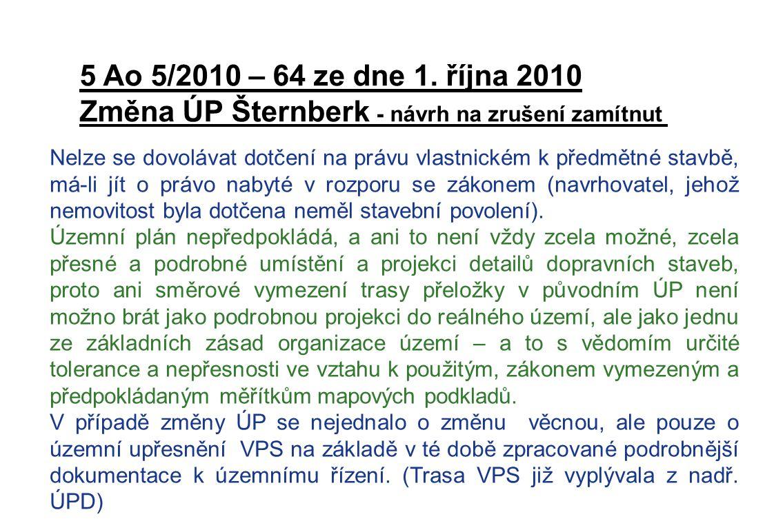 Změna ÚP Šternberk - návrh na zrušení zamítnut