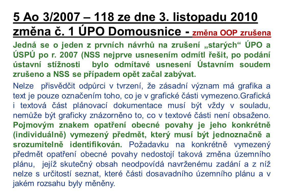 5 Ao 3/2007 – 118 ze dne 3. listopadu 2010 změna č