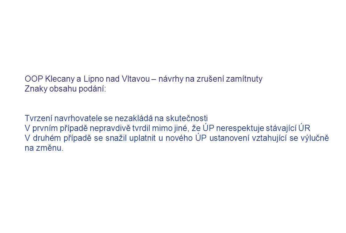 OOP Klecany a Lipno nad Vltavou – návrhy na zrušení zamítnuty