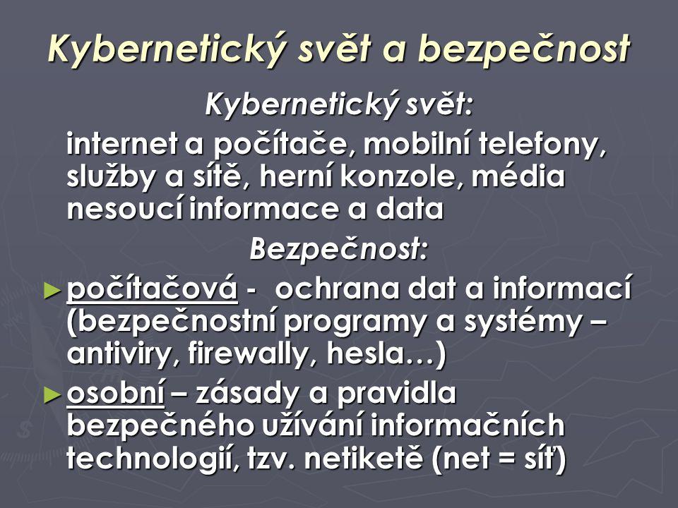 Kybernetický svět a bezpečnost