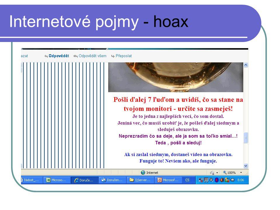 Internetové pojmy - hoax