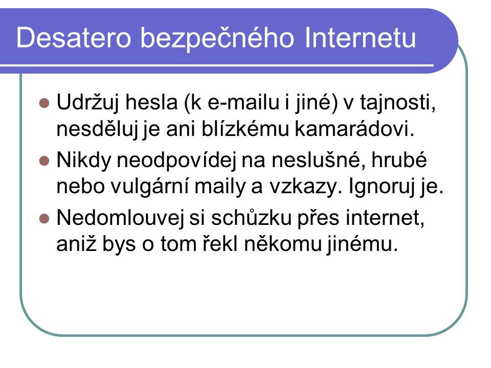 Desatero bezpečného Internetu