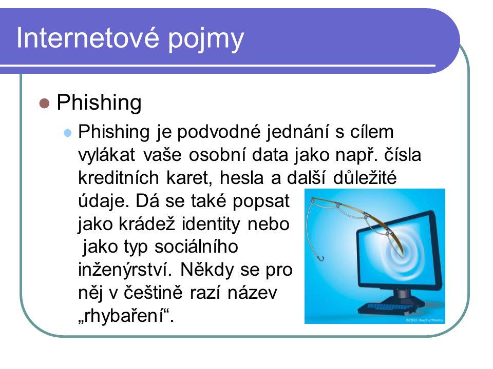Internetové pojmy Phishing