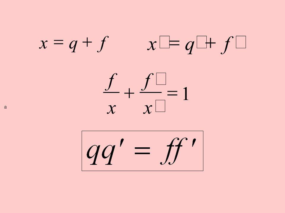 x q f = + ¢ = + x q f f x + ¢ = 1 a