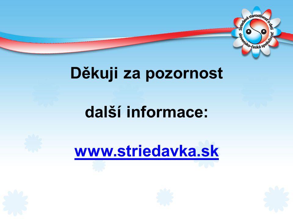 Děkuji za pozornost další informace: www.striedavka.sk