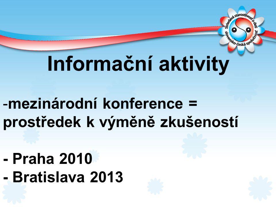 Informační aktivity mezinárodní konference =