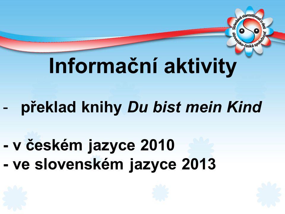 Informační aktivity překlad knihy Du bist mein Kind