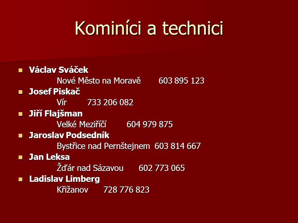 Kominíci a technici Václav Sváček Nové Město na Moravě 603 895 123