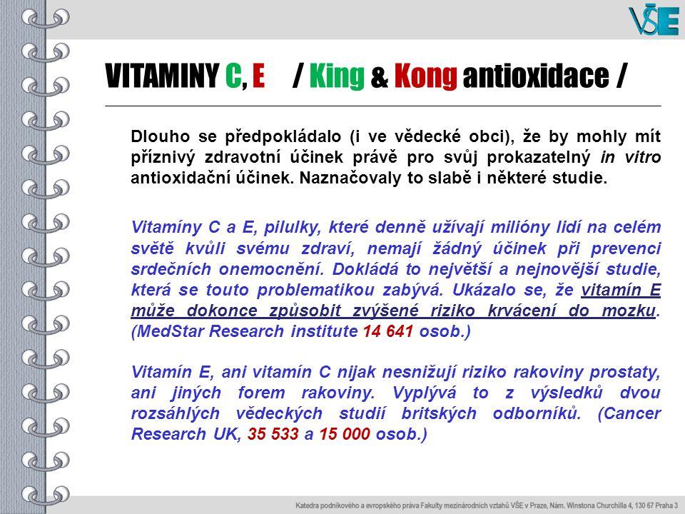 VITAMINY C, E / King & Kong antioxidace /