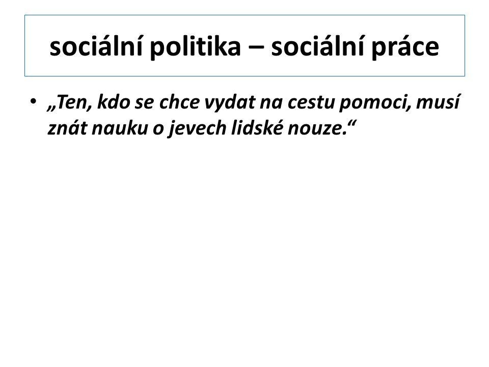 sociální politika – sociální práce
