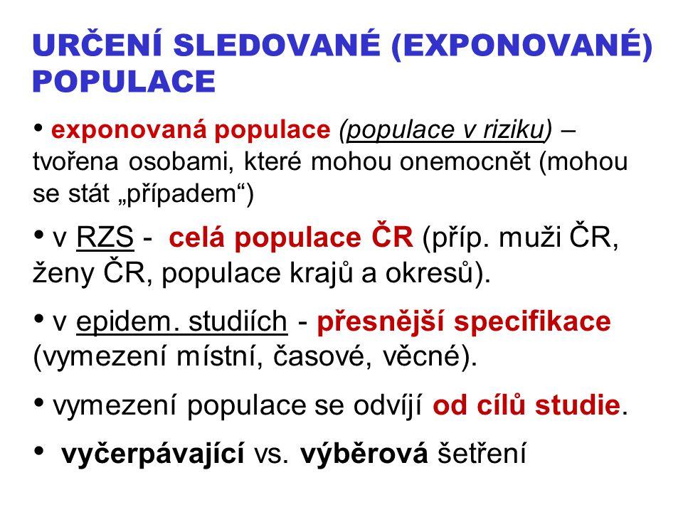 Určení sledované (exponované) populace