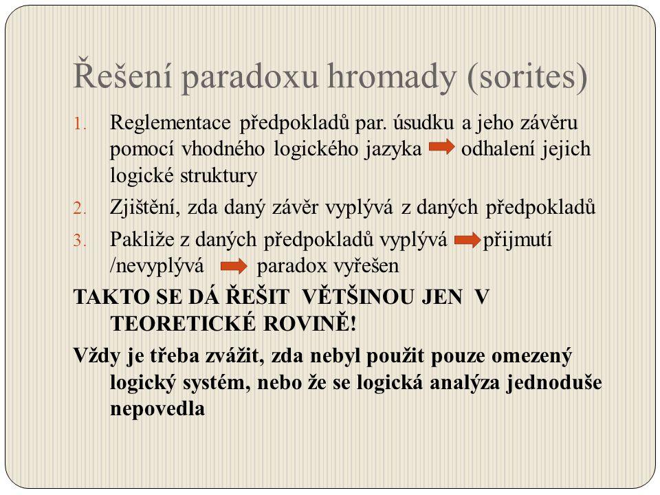 Řešení paradoxu hromady (sorites)