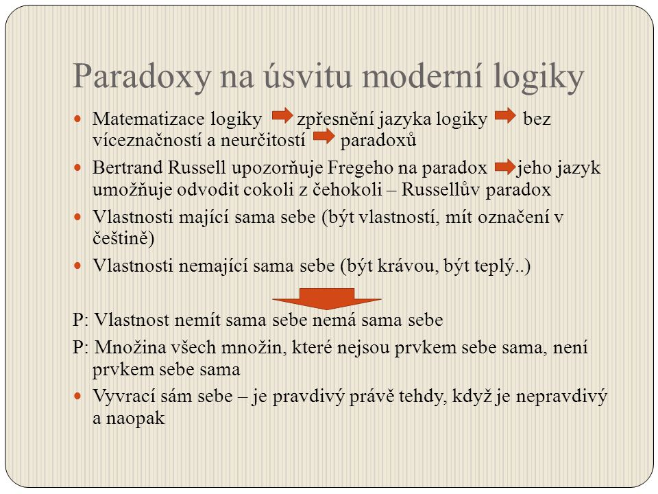 Paradoxy na úsvitu moderní logiky