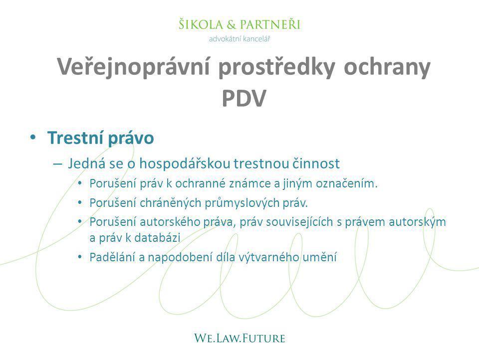 Veřejnoprávní prostředky ochrany PDV