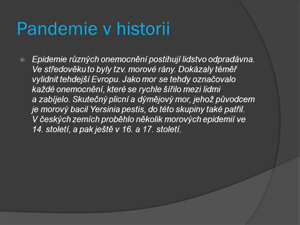 Pandemie v historii