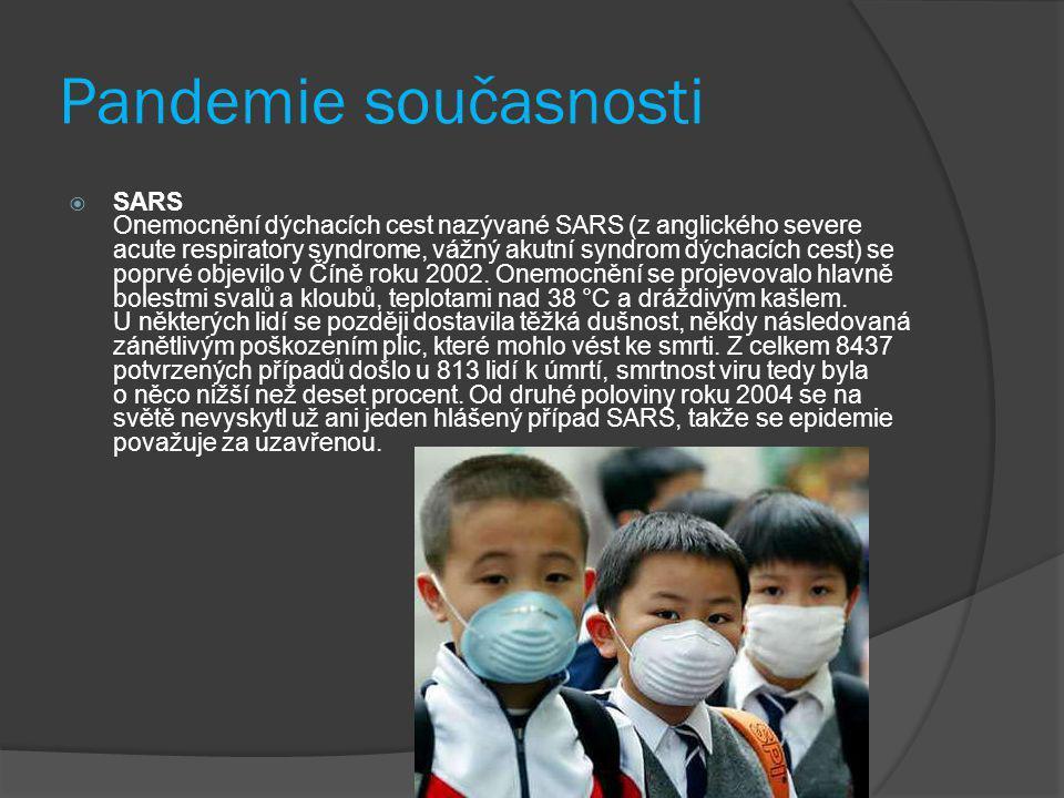 Pandemie současnosti