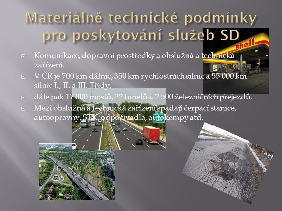 Materiálně technické podmínky pro poskytování služeb SD