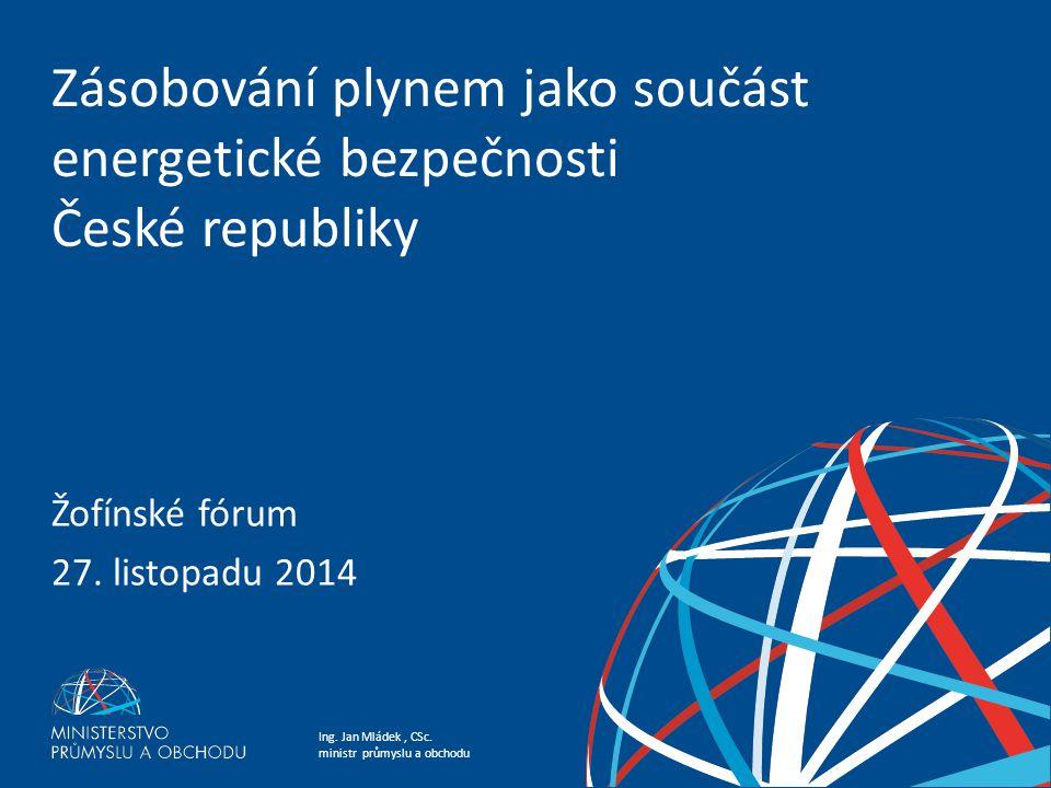 Zásobování plynem jako součást energetické bezpečnosti České republiky