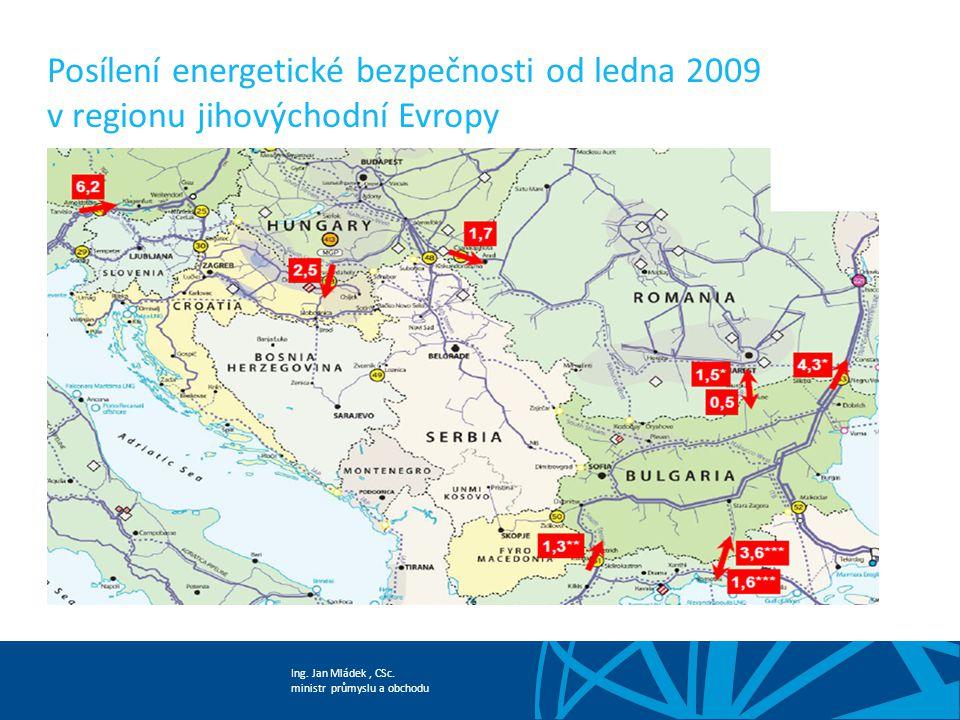 Posílení energetické bezpečnosti od ledna 2009 v regionu jihovýchodní Evropy