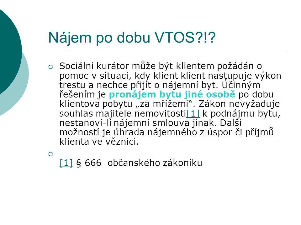 Nájem po dobu VTOS !