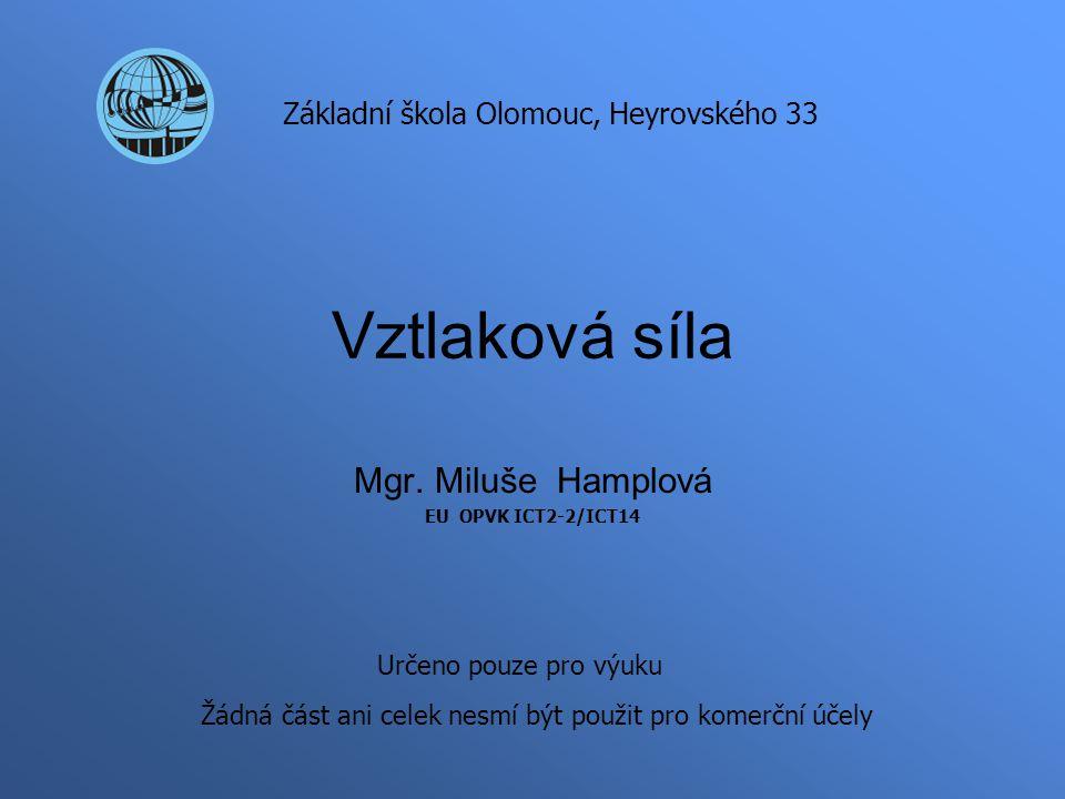 Mgr. Miluše Hamplová EU OPVK ICT2-2/ICT14