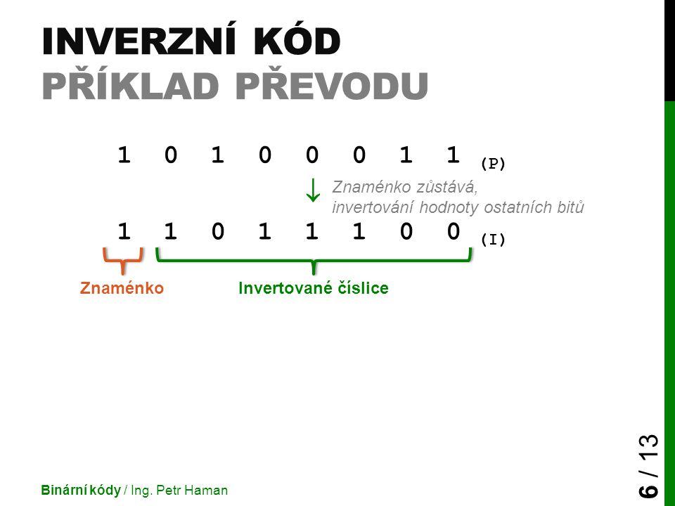 Inverzní kód příklad převodu