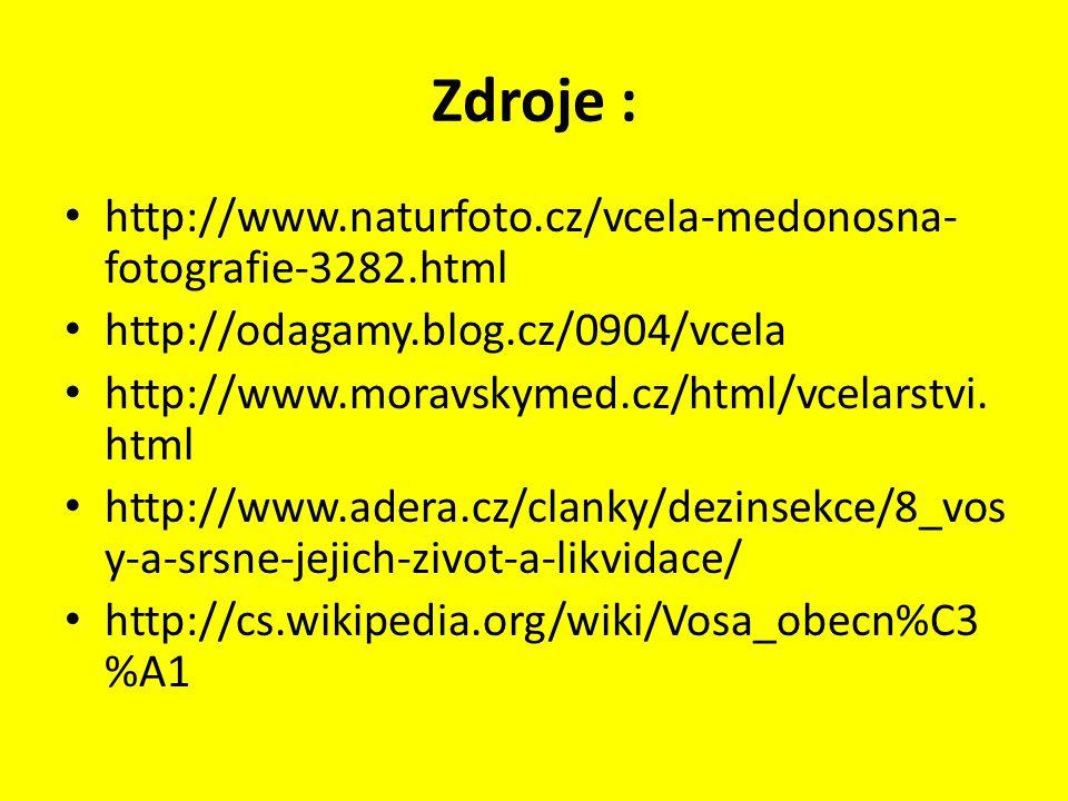 Zdroje : http://www.naturfoto.cz/vcela-medonosna-fotografie-3282.html