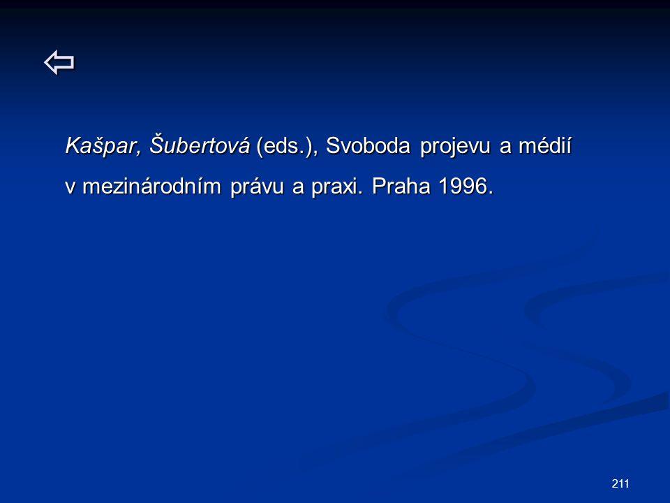  Kašpar, Šubertová (eds.), Svoboda projevu a médií