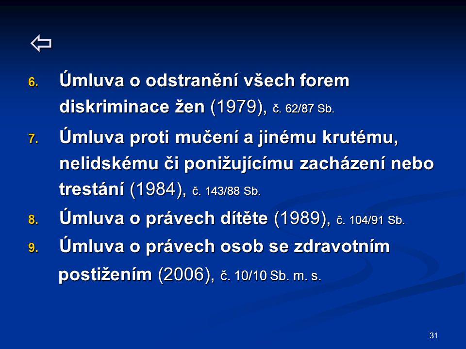  Úmluva o odstranění všech forem diskriminace žen (1979), č. 62/87 Sb.