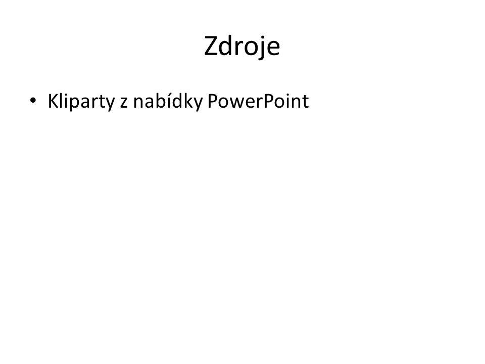 Zdroje Kliparty z nabídky PowerPoint